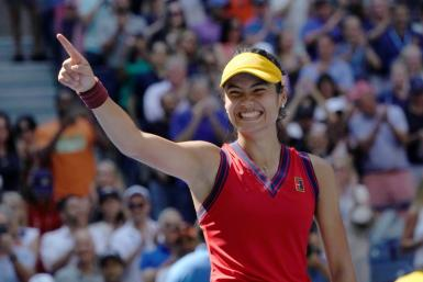 British 18-year-old sensation Emma Raducanu would become the first qualifier to reach a Grand Slam final with one more victory at the US Open