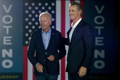President Joe Biden flew to California to lend his support to Governor Gavin Newsom, who is facing a recall election