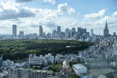 Investors in Tokyo are keeping an eye on the ruling party's leadership election, with hopes the winner will push through a big stimulus package