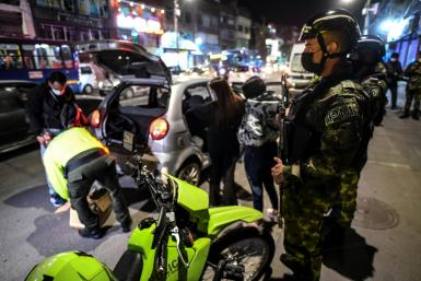 Nearly 360 soldiers were sent to different spots around Bogota to help police deal with a wave of violent crime