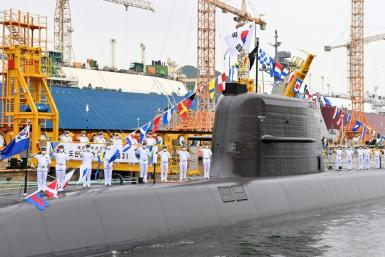 Seoul's missile was fired underwater from South Korea's newly commissioned submarine Ahn Chang-ho