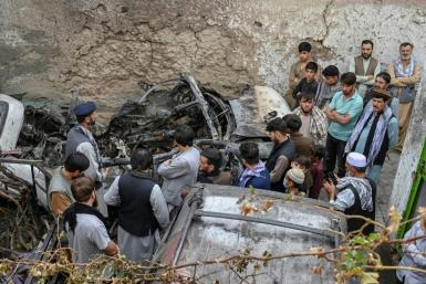 The scene of the August 29 US drone strike in Kabul that the Pentagon now admits mistakenly killed 10 people, including seven children, who were not a threat.