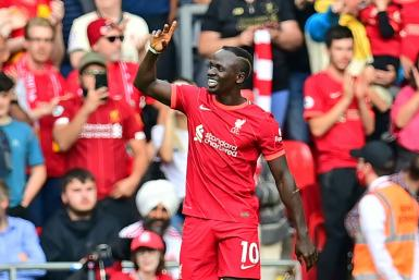 Sadio Mane has scored in nine consecutive league games against Crystal Palace