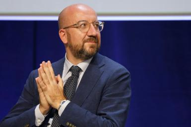 President of the European council Charles Michel on September 3, 2021, in Marseille, southern France