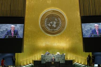 United Nations Secretary-General Antonio Guterres addressed the 76th Session of the UN General Assembly on September 21, 2021 in New York, where he urged the United States and China to engage in dialogue