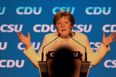 German Chancellor Angela Merkel had planned to keep a low profile in the election battle as she prepares to bow out of politics after 16 years in power