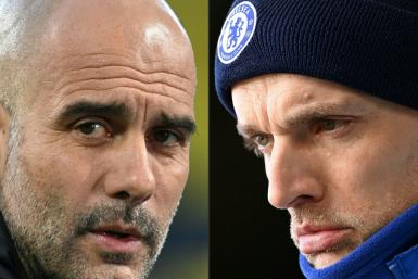 Pep Guardiola (left) is preparing to lock horns with Thomas Tuchel in the Premier League