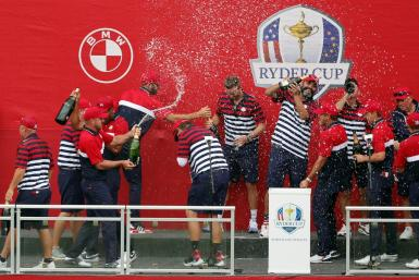 A United States team with six rookies and eight players in their 20s celebrates a victory over Europe in the Ryder Cup on Sunday at Whistling Straits