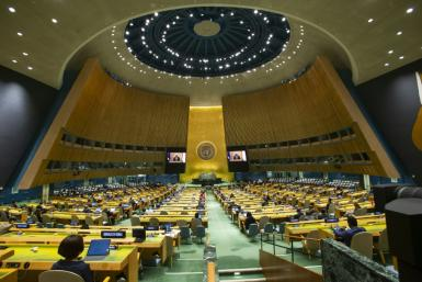 The UN General Assembly reconvened in person for the first time since the start of the pandemic, with strict rules over masks and social distancing imposed and only seven people per delegation allowed