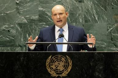 """Israeli Prime Minister Naftali Bennett, addresses the 76th Session of the UN General Assembly, accused Iran of breaching """"all red lines"""" aimed at curbing its nuclear weapons program"""