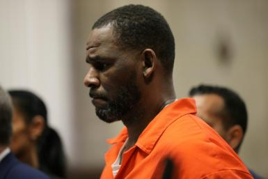 Singer R. Kelly, pictured during a hearing at the Leighton Criminal Courthouse in Chicago, Illinois in 2019, was convicted of leading a decades-long sex crime ring on September 27, 2021