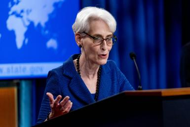 US Deputy Secretary of State Wendy Sherman, seen addressing reporters in August 2021, will visit both Pakistan and India on the crisis in Afghanistan