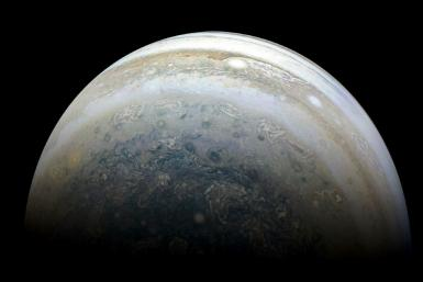 This NASA photo released on July 2, 2018 shows Jupiter's southern hemisphere captured by NASA's Juno spacecraft on the outbound leg of a close flyby of the gas-giant planet
