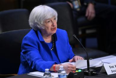 US Treasury Secretary Janet Yellen speaks during a Senate Banking, Housing and Urban Affairs Committee hearing at the Hart Senate Office Building on September 28, 2021 in Washington, DC
