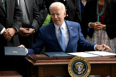US President Joe Biden signs three proclamations restoring protections stripped by the Trump administration for Bears Ears, Grand Staircase-Escalante, and Northeast Canyons and Seamounts national monuments