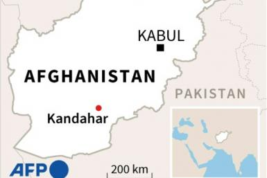 Map of Afghanistan showing location of Kandahar, where an explosion hit a Shiite mosque on Friday