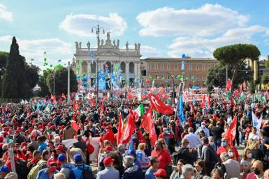 Organisers said the rally drew at least 100,000 people