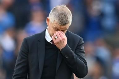 'Not good enough': Manchester United manager Ole Gunnar Solskjaer at the end of the 4-2 defeat at Leicester
