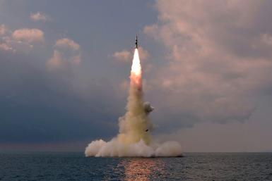 Pyongyang fired a new type of submarine-launched ballistic missile (SLBM) on Tuesday, the latest in a series of tests in recent weeks