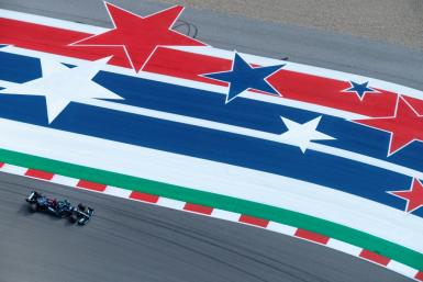 Starring role: Lewis Hamilton was second-fastest races during the first practice session at the Circuit of The Americas in Austin, a track where he has won five times