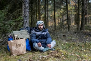 """Lebanese barber Ali Abd Alwareth is stuck in a border forest after Belarus told him: """"You have only two choices: either you die here or you die in Poland"""""""