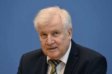 German Interior Minister Horst Seehofer (pictured October 21, 2021) said that 800 police had already been deployed on the German-Polish border to help deal with a recent increase in migrants crossing into Germany from Belarus