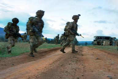 The soldier who confessed to the 2012 crime was a member of the British Army Training Kenya, similar to the soldiers pictured during training in March 2018