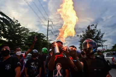 A hard core of young working-class Thai protesters calling themselves 'Thalugaz' have fought near-nightly street battles with riot police
