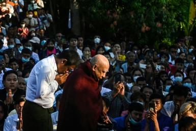 Buddhist monk Myaing Sayadaw has become an unwitting embodiment of hope and solace for thousands in coup-wracked Myanmar