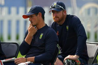 Out for 'personal reasons': South Africa's Quinton De Kock (left)