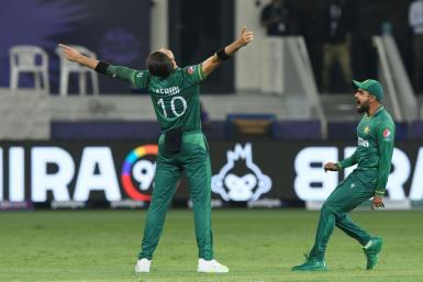 Around 300 students burst into celebrations after Pakistan crushed India in the high-octane contest in Dubai