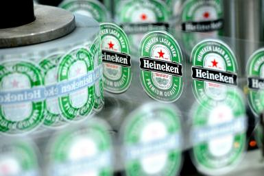 Heineken's overall beer volumes grew by four percent since the start of the year