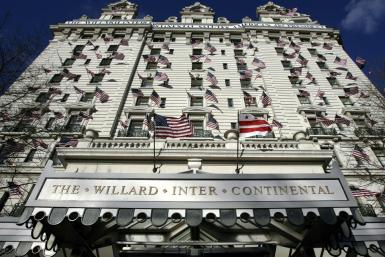 """Investigators are examining whether a group of powerful Trump backers used a """"war room"""" in the luxury Willard InterContinental hotel in Washington to incite the January 6 attack on the US Capitol."""