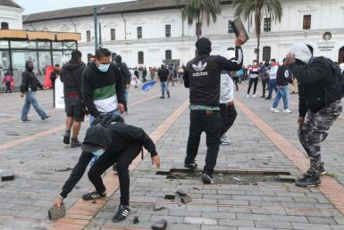 Officials said about 1,500 indigenous people, students and workers marched in the capital Quito