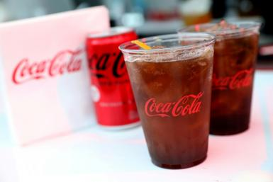 The iconic soda brand Coca-Cola saw sales increase five percent as pandemic uncertainty wanes, while sales of fruit, milk and plant-based drinks jumped 12 percent