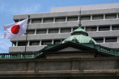 The Bank of Japan predicted growth of 3.4 percent for the year to March 2022