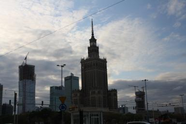 Construction Underway In Warsaw, Poland