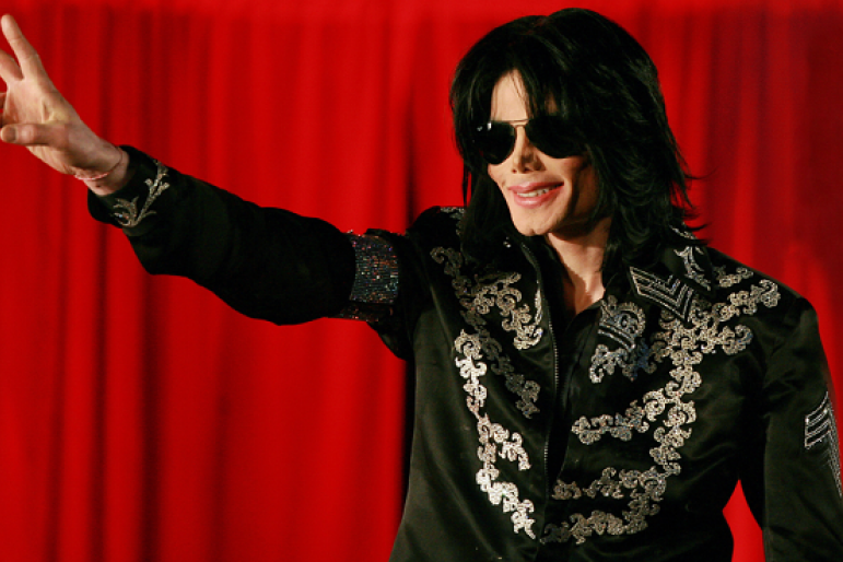 US popstar Michael Jackson addresses a press conference at the O2 arena in London, on March 5, 2009.
