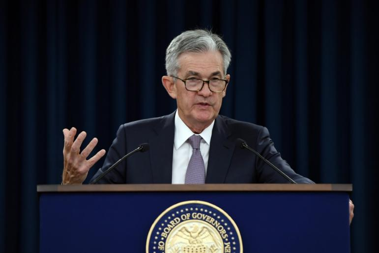 Federal Reserve Chairman Jerome Powell addresses reporters on Wednesday September 18, 2019