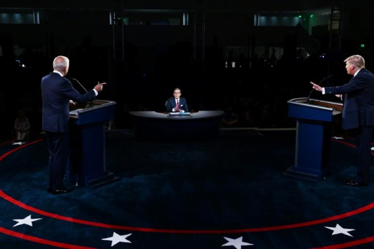 The first of three scheduled presidential debates was widely criticized for descending into an angry shouting match as Donald Trump attempted to inflict a late wound to Joe Biden's campaign