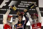 Red Bull Formula One driver Sebastian Vettel of Germany celebrates his championship and Grand Prix win in Abu Dhabi.