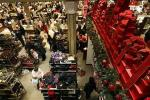 Holiday shoppers browse Macy's department store in New York City