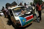 Supporters of Sudan People's Liberation Movement (SPLM) take part in a rally in support of South Sudan taking control of the Heglig oil field, in Juba