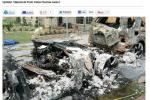 Screen shot of the Fisker car fire from AutoWeek.com.