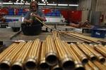 LME copper edges up; growth worries cap gains