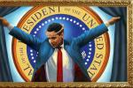 Painting Depicts President Obama As Crucified Jesus Christ