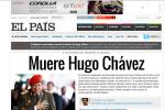 Chavez Makes The World's Newspaper Home Pages, Except China's