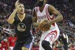Klay Thompson Warriors James Harden Rockets 2015