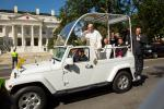 Pope Francis in Jeep