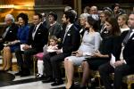 Sweden's King Carl Gustaf, Queen Silvia, Prince Daniel, Princess Estelle, Prince Carl Philip, Princess Sofia, Princess Madeleine and Christopher O'Neill